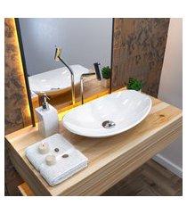 cuba de apoio banheiro trevalla lux l45 canoa