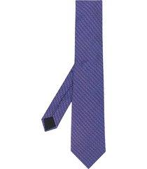 lanvin silk floral-print tie - purple
