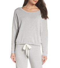 women's eberjey softest sweats pajama top, size medium - grey
