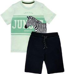 conjunto corto verde  offcorss