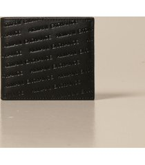armani collezioni armani exchange wallet credit card holder with all-over logo
