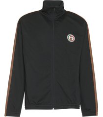 gucci oversize mesh jacket with patch