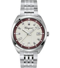 men's salvatore ferragamo bracelet watch, 40mm