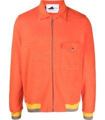 anglozine zip-up knitted shirt - orange