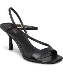 tasha sandal sandal med klack svart michael kors shoes