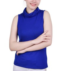 ny collection petite cowlneck face mask top