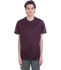 low brand t-shirt in bordeaux cotton