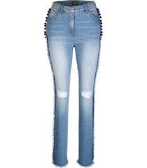 jeans med fransar dress in blå