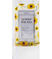 sunflower waterproof phone pouch - multi
