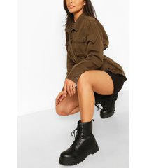belted pocket detail utility jacket, khaki