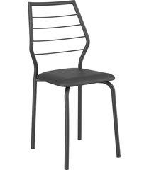 conjunto 2 cadeiras 1716 napa móveis carraro preto