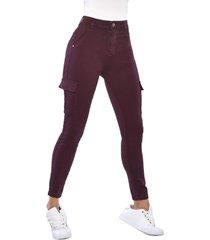 jeans tiro alto high waist skinny 3111 burdeo amalia jeans