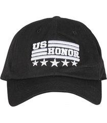 gorra militar beisbolera  us honor color negro.
