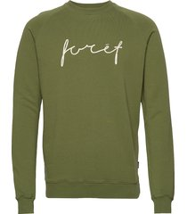 track sweatshirt - tan sweat-shirt trui groen forét