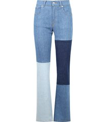 7 for all mankind patchwork design jeans