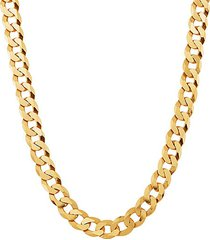 basic 18k goldplated sterling silver curb chain necklace/24""