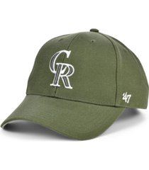 '47 brand colorado rockies olive mvp cap