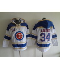 chicago cubs 34 jon lester baseball pullover hoodie jersey
