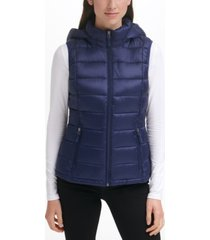 charter club packable hooded down puffer vest, created for macy's