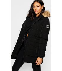 luxe berg parka jas, zwart