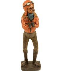 escultura decorativa de resina cachorro carter