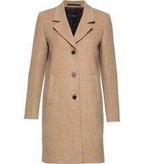 slfsasja wool coat noos b wollen jas lange jas beige selected femme