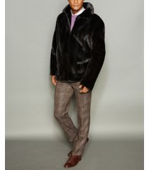 the fur vault men's mink fur bomber jacket