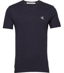 ck essential slim tee t-shirts short-sleeved blå calvin klein jeans