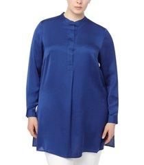 anne klein plus size charmeuse tunic