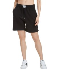 juicy couture women's french terry shorts - grey powder - size l