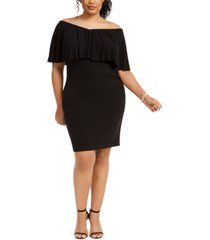 connected plus size popover sheath dress