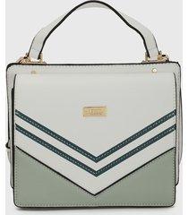 bolso verde-blanco keddo