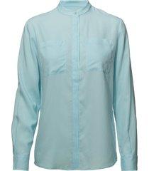 g. tencel blouse blouse lange mouwen blauw gant