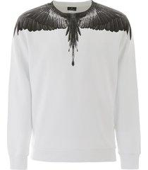 marcelo burlon black wings sweatshirt