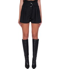 iro corsten shorts in black wool