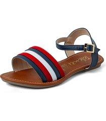 sandalia mujer azul*rojo*blanco tellenzi 1814