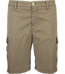 brunello cucinelli stretch cotton bermuda shorts khaki