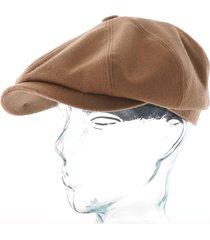 stetson tyrolean loden flat cap - camel - 6840104-7