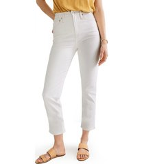 women's madewell classic straight jeans