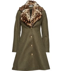 tracey coat wollen jas lange jas bruin ida sjöstedt