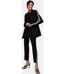black diamante suit blazer jacket - black
