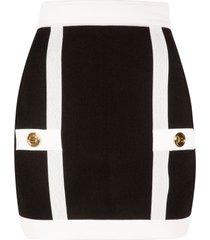 balmain back zip detail skirt