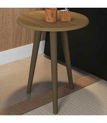 mesa de canto redonda brilhante 2075282 cinamomo - bechara móveis