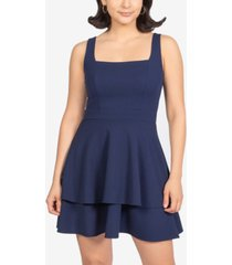 b darlin juniors' bow-back tiered dress, created for macy's