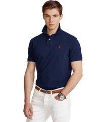 polo ralph lauren men's custom slim fit crest mesh polo shirt