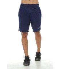 pantaloneta deportiva con vivo contraste, color azul oscuro para hombre
