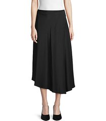 asymmetrical silk midi skirt