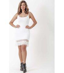anágua vestido dulcet barra renda branca