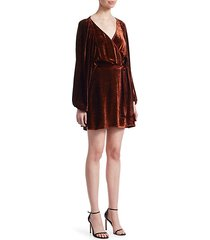 carlo velvet mini dress