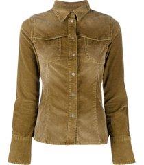 diesel button-up corduroy shirt - neutrals